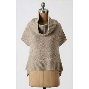 Anthropologie | Moth Sweet Cables Swing Pullover